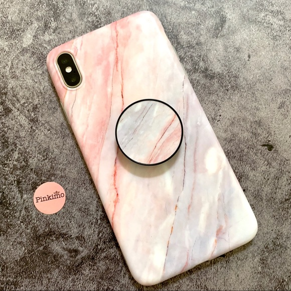 check out 007e8 0f02e 💕iPhone XS Max/XS Marble Pattern Case w/Socket Boutique